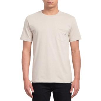 Camiseta manga curta bege Heather Oatmeal da Volcom