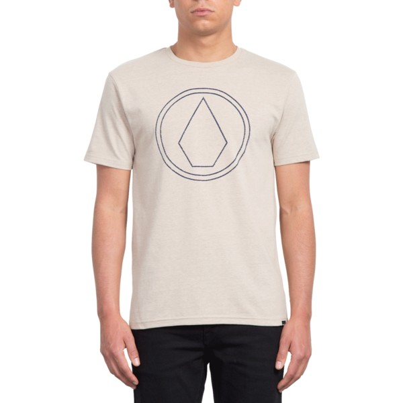 fb0b5d093 Camiseta manga curta bege Pin Stone Oatmeal da Volcom  comprar ...
