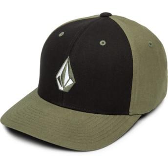 Boné curvo preto e verde justo Full Stone Xfit Army da Volcom