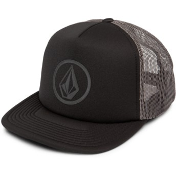 Boné trucker preto Full Frontal Cheese Asphalt Black da Volcom