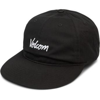 Boné curvo preto ajustável Volscripto Black da Volcom
