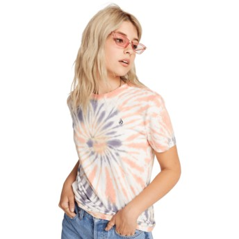 Camiseta manga curta multicolor Zipn N Tripn Multi da Volcom