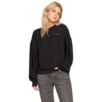Sweatshirt preto Fleece Pleaze Black da Volcom