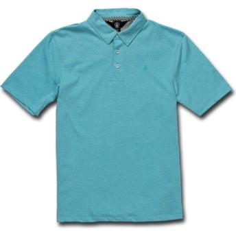 Polo manga curta azul para criança Wowzer Cyan Blue da Volcom