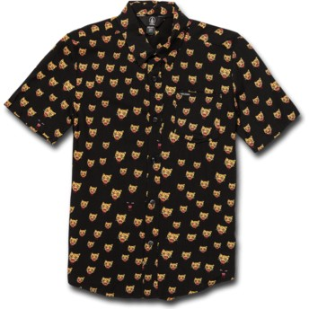 Camisa manga curta preta para criança Ozzie Cat Black da Volcom