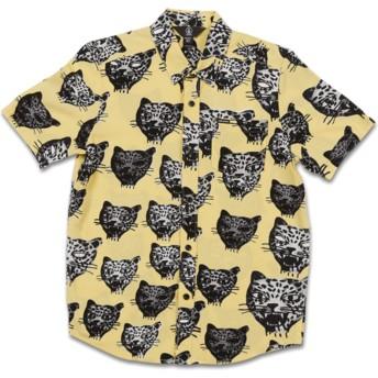 Camisa manga curta amarela para criança Ozzie Cat Lime da Volcom