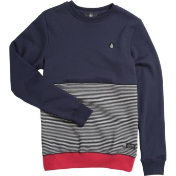 Sweatshirt azul marinho, cinza e vermelho para criança Forzee Navy da Volcom