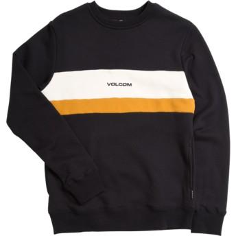 Sweatshirt preto para criança Single Stone Division Black da Volcom