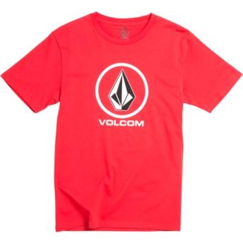 Camiseta manga curta vermelho para criança Crisp Stone Division True Red da Volcom