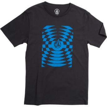 Camiseta manga curta preto para criança Check Wreck Division Black da Volcom