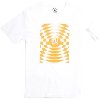 Camiseta manga curta branco para criança Check Wreck Division White da Volcom