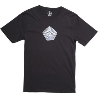 Camiseta manga curta preto para criança Noa Band Division Black da Volcom