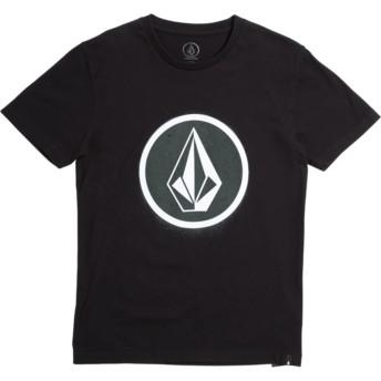 Camiseta manga curta preto para criança Spray Stone Black da Volcom