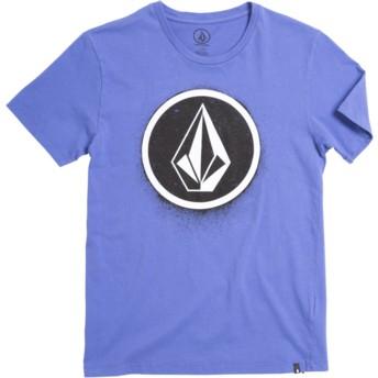 Camiseta manga curta violeta para criança Spray Stone Dark Purple da Volcom