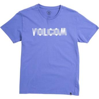 Camiseta manga curta violeta para criança Volcom Frequency Dark Purple da Volcom