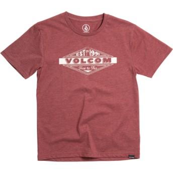 Camiseta manga curta vermelho para criança Volcom Run Crimson da Volcom