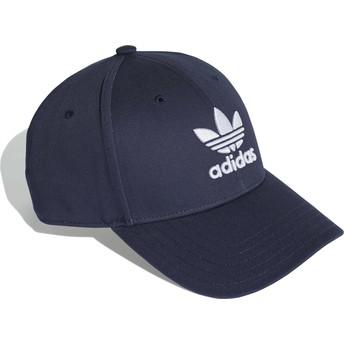 Boné curvo azul marinho ajustável Trefoil Baseball da Adidas