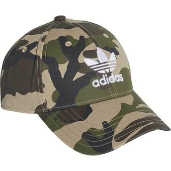 Boné curvo camuflagem ajustável Trefoil Classic da Adidas