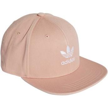Boné plano rosa snapback Trefoil Adicolor da Adidas