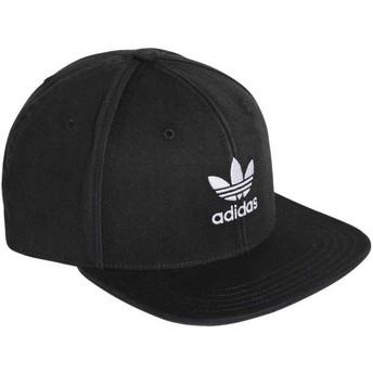 Boné plano preto snapback Trefoil Adicolor da Adidas