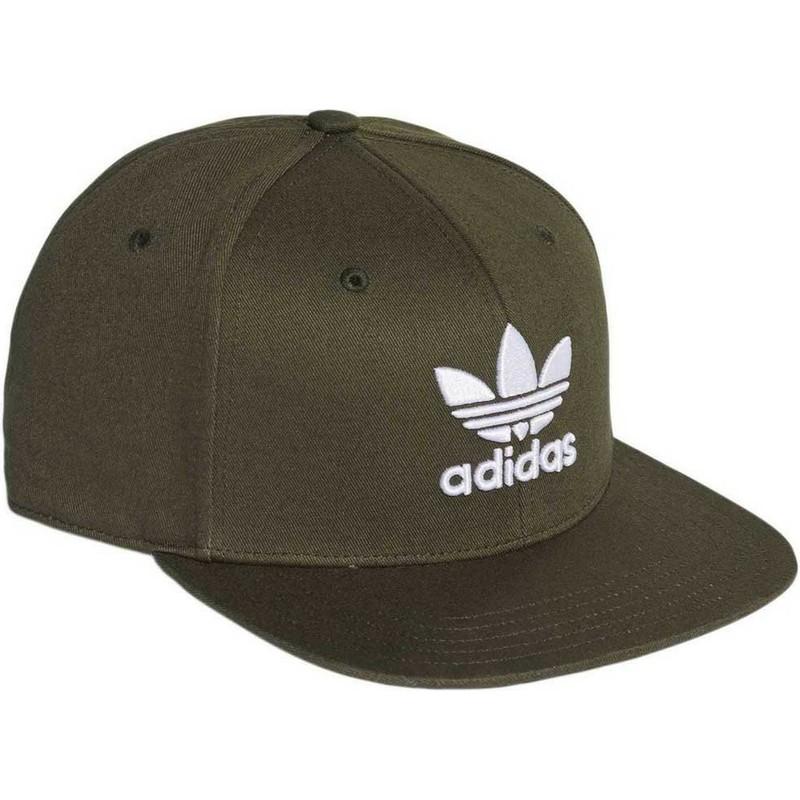Boné plano verde snapback Trefoil da Adidas  comprar online en ... 1c4eaa79159