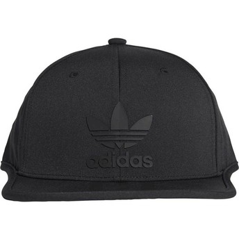 Boné plano preto snapback 3 Stripes da Adidas
