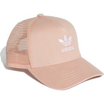 Boné trucker rosa Trefoil da Adidas