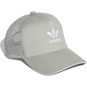 Boné trucker cinza Trefoil da Adidas