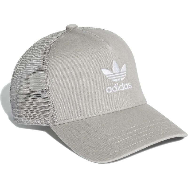 Boné trucker cinza Trefoil da Adidas  comprar online en Caphunters be04183a4c1