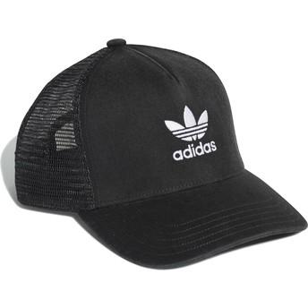 Boné trucker preto Trefoil da Adidas