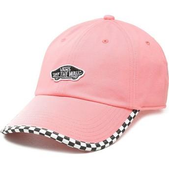 Boné curvo rosa ajustável Check It da Vans