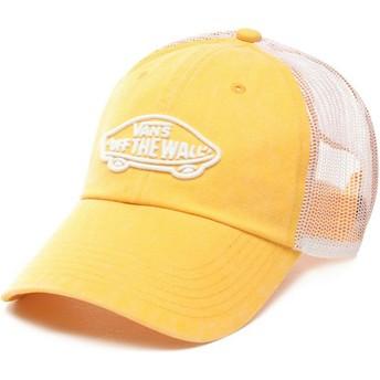 Boné trucker amarelo Acer da Vans