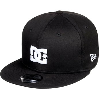 Boné plano preto snapback Empire Fielder da DC Shoes