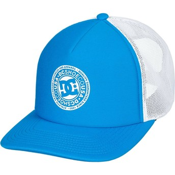 Boné trucker azul e branco Vested Up da DC Shoes
