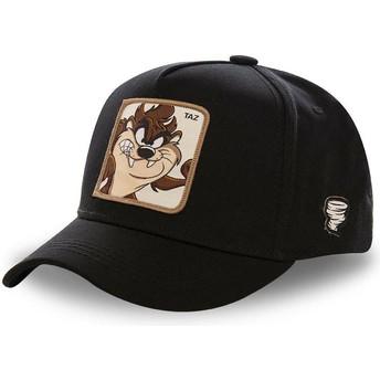 Boné curvo preto snapback Demónio da Tasmânia TAZ5 Looney Tunes da Capslab