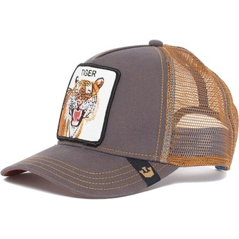 Boné trucker castanho tigre Eye of the Tiger da Goorin Bros.