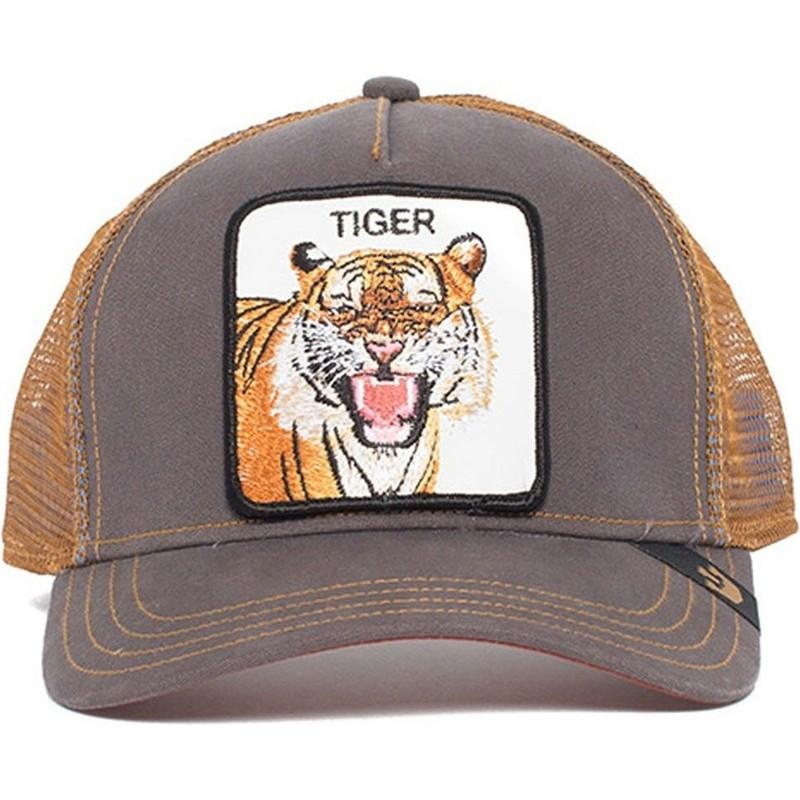 Boné trucker castanho tigre Eye of the Tiger da Goorin Bros ... 294ef76bdb7