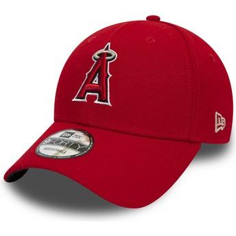 Boné curvo vermelho ajustável 9FORTY The League da Anaheim Angels MLB da New Era