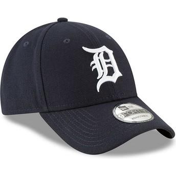 Boné curvo azul marinho ajustável 9FORTY The League da Detroit Tigers MLB da New Era