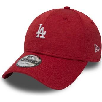 Boné curvo vermelho ajustável 9FORTY Shadow Tech da Los Angeles Dodgers MLB da New Era