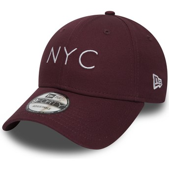 Boné curvo grená ajustável 9FORTY Essential NYC da New Era