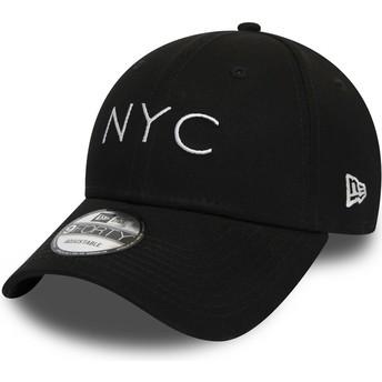Boné curvo preto ajustável 9FORTY Essential NYC da New Era