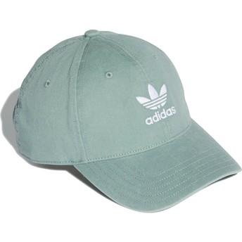 Boné curvo verde ajustável Washed Adicolor da Adidas