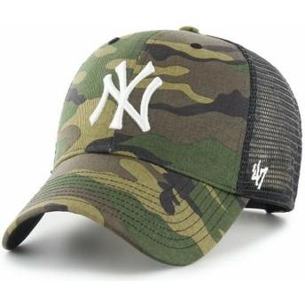 Boné trucker camuflagem com logo branco MVP Branson da New York Yankees MLB da 47 Brand