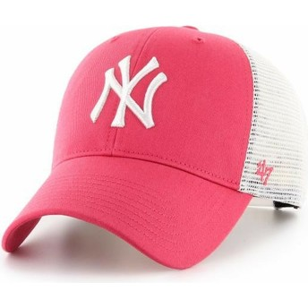 Boné trucker rosa MVP Flagship da New York Yankees MLB da 47 Brand