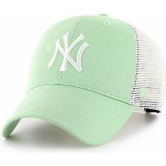 Boné trucker verde claro MVP Flagship da New York Yankees MLB da 47 Brand