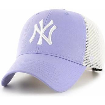 Boné trucker violeta alfazema MVP Flagship da New York Yankees MLB da 47 Brand