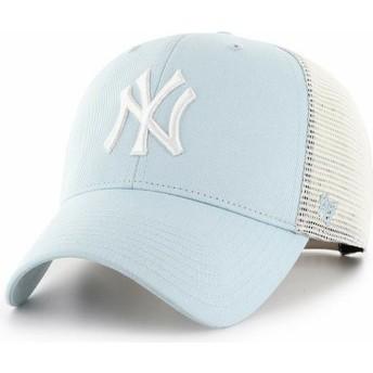 Boné trucker azul claro MVP Flagship da New York Yankees MLB da 47 Brand