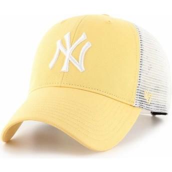 Boné trucker amarelo MVP Flagship da New York Yankees MLB da 47 Brand