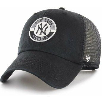 Boné trucker preto Clean Up Porter da New York Yankees MLB da 47 Brand